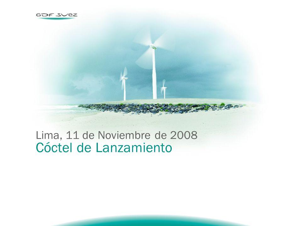 Lima, 11 de Noviembre de 2008 Cóctel de Lanzamiento