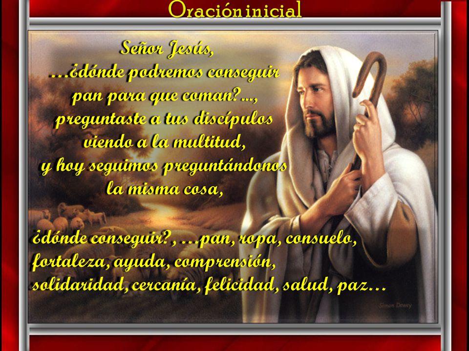 AMBIENTACIÓN: El Evangelio de hoy nos presenta el signo de la multiplicación de los panes y los peces. Los discípulos se fijan en la falta de medios p