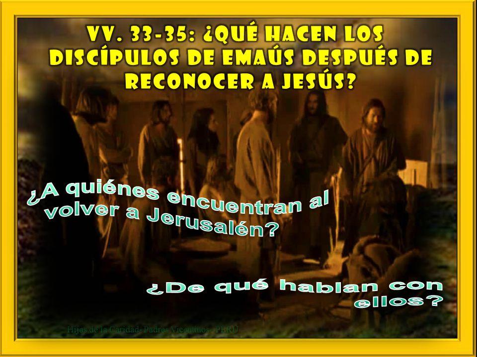 vv. 28-32: ¿En qué momento se abren los ojos de los de Emaús? vv. 28-32: ¿En qué momento se abren los ojos de los de Emaús?