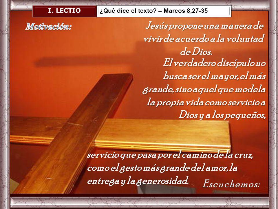 Por eso, Señor, te pedimos que nos ayudes a asumir y a adecuarnos a tu manera de ser, a entender la dimensión de tu vida, para amar como Tú, y ser cap