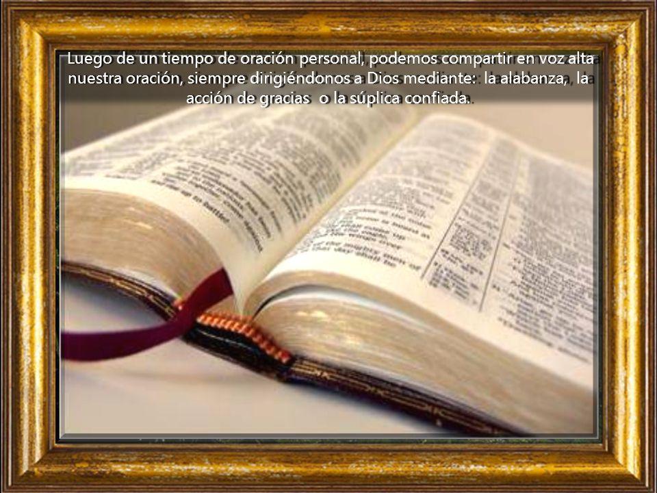 ¿Qué le digo al Señor motivado por su Palabra? III. ORATIO