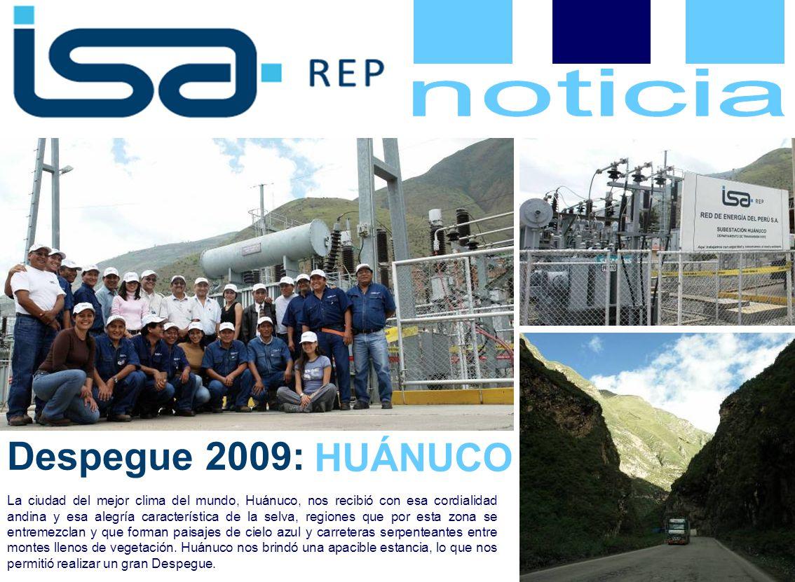 Despegue 2009: La ciudad del mejor clima del mundo, Huánuco, nos recibió con esa cordialidad andina y esa alegría característica de la selva, regiones que por esta zona se entremezclan y que forman paisajes de cielo azul y carreteras serpenteantes entre montes llenos de vegetación.