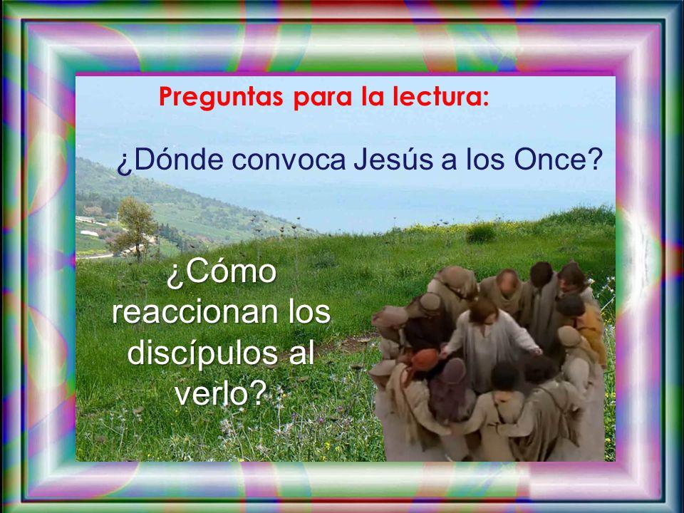 En aquel tiempo, los once discípulos se fueron a Galilea, al monte que Jesús les había indicado. Al verlo, se postraron y le adoraron; pero algunos du