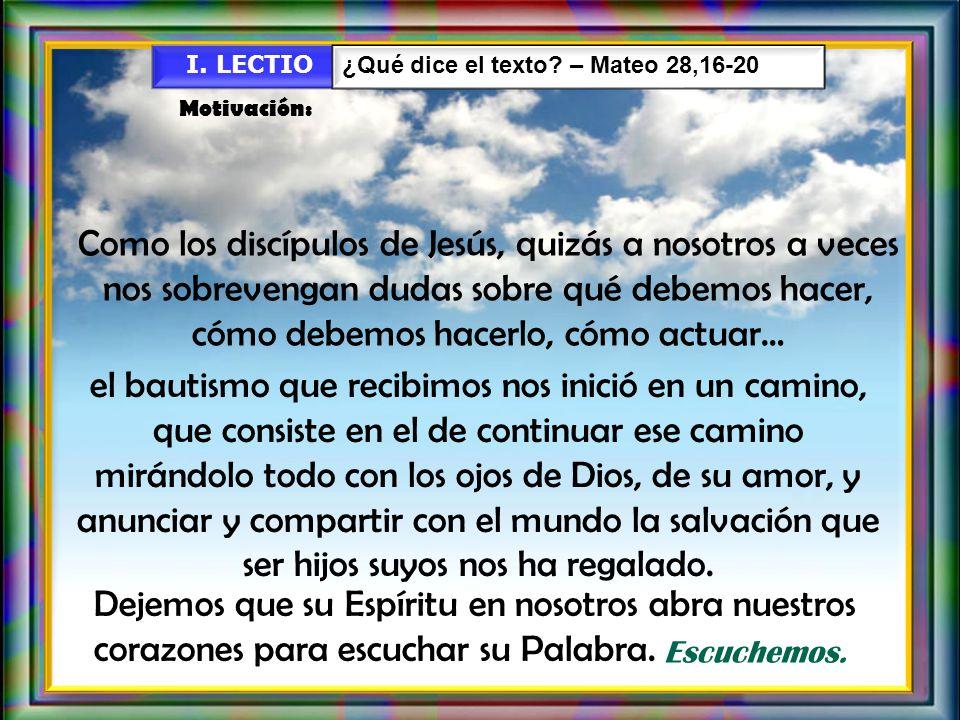 A Ti, Trinidad Santísima se te dé siempre, todo honor, gloria y alabanza por toda la eternidad.