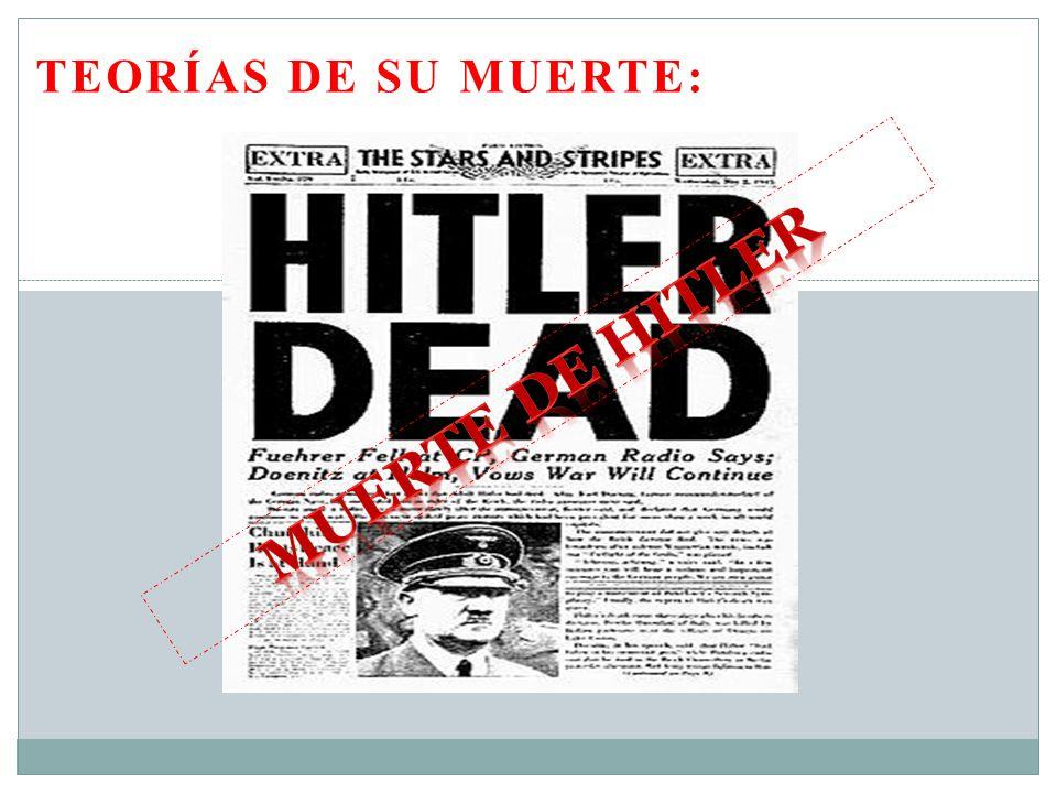 TEORÍAS DE SU MUERTE: