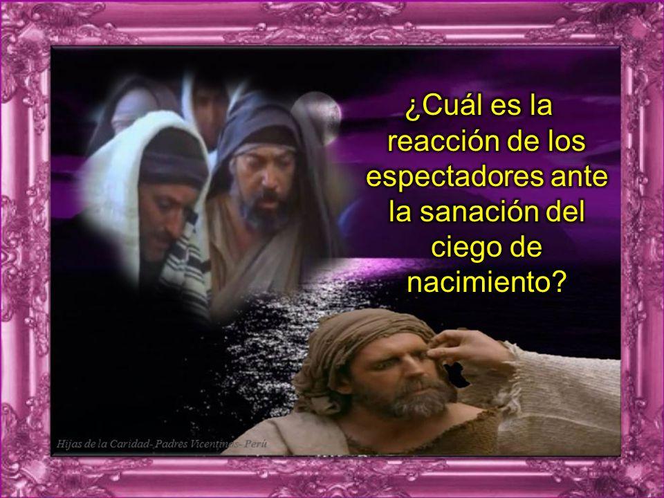 ¿De qué manera va descubriendo el ciego la identidad de Jesús? ¿De qué manera va descubriendo el ciego la identidad de Jesús? Observa las cosas que di
