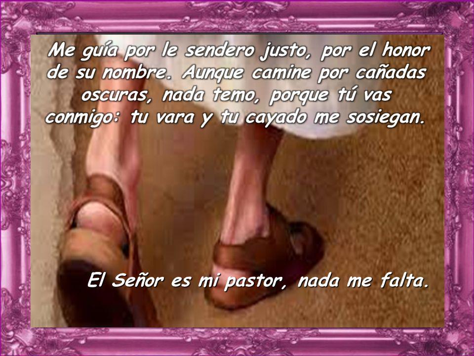 Salmo 22 Salmo 22 El Señor es mi pastor, nada me falta.