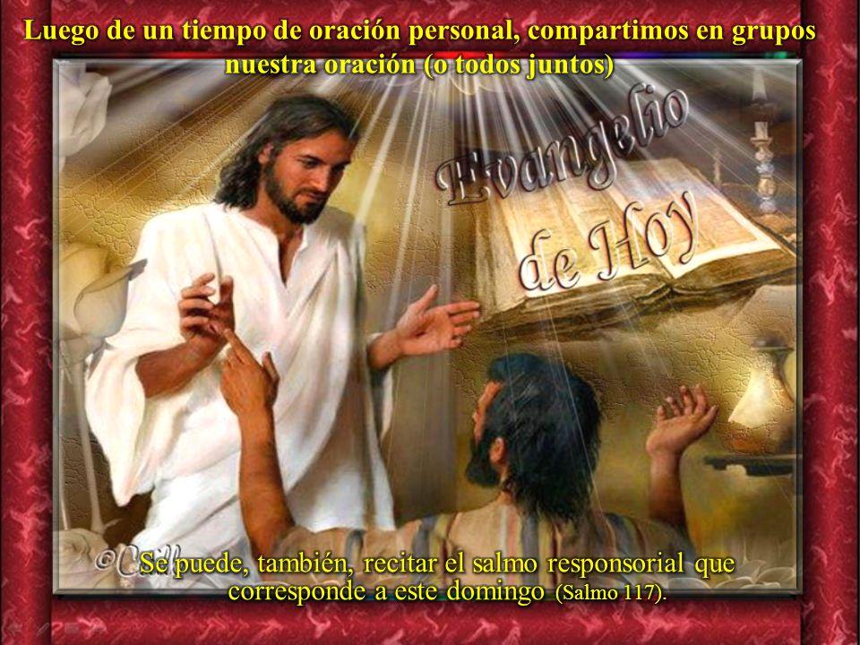 III. ORATIO ¿Qué le digo al Señor motivado por su Palabra?