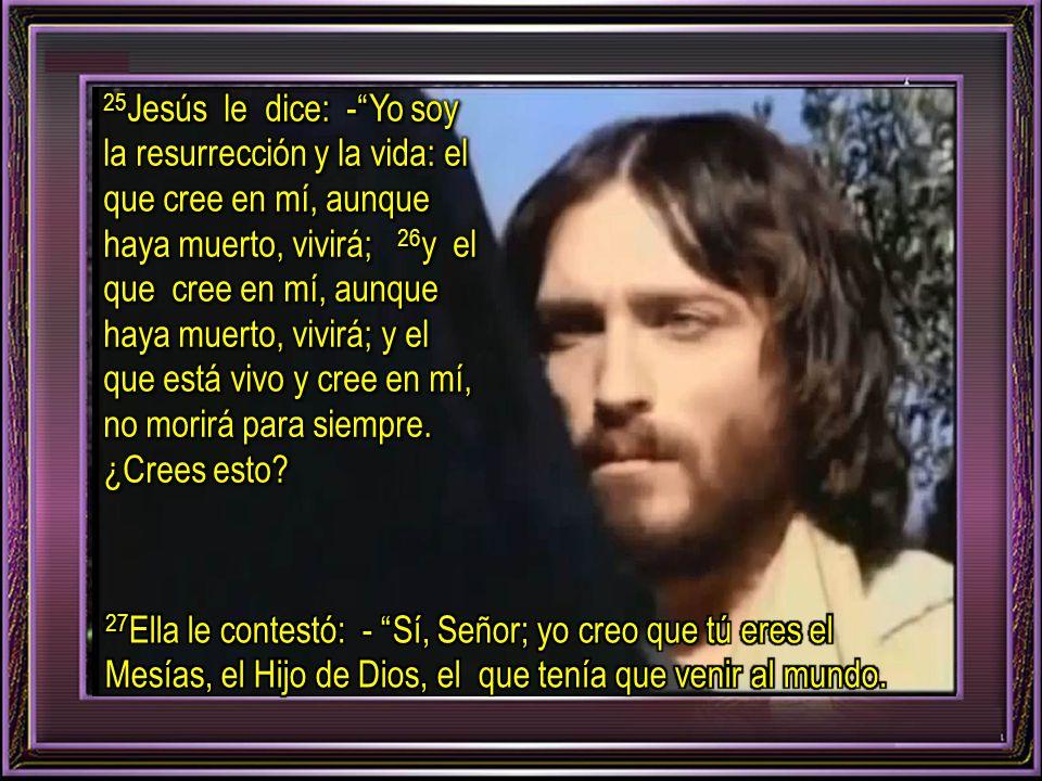 24 Marta respondió: - Sé que resucitará en la resurrección del último día.