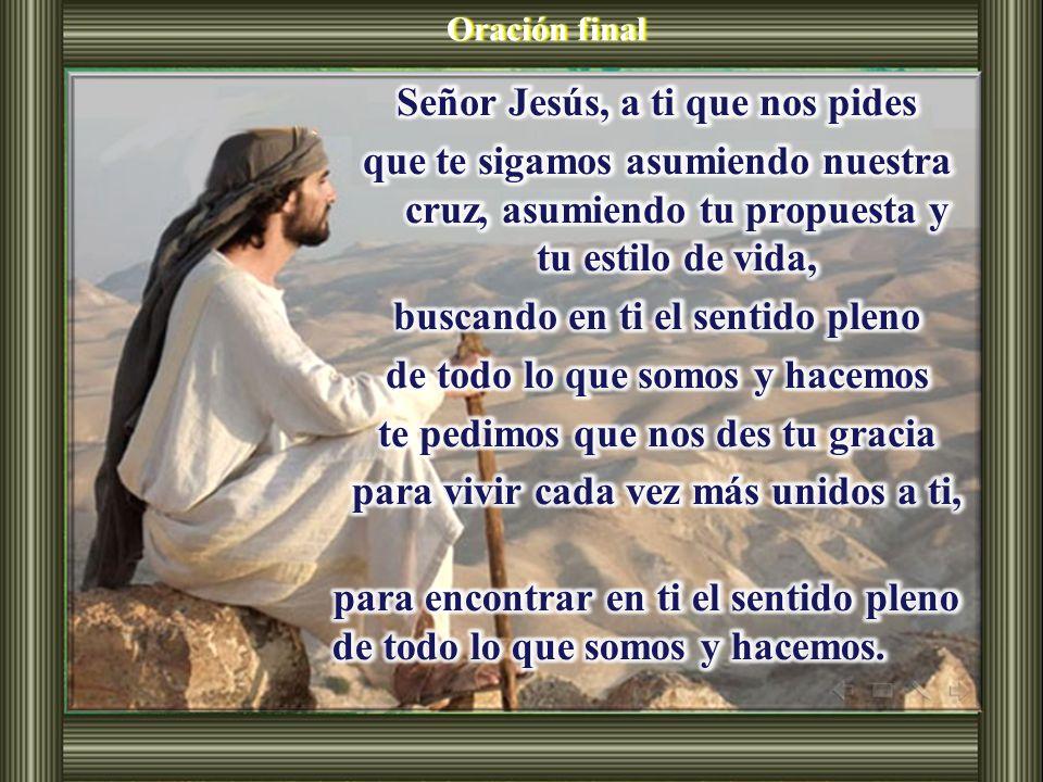 ¿Quién es Jesús para ti? ¿De qué manera puedo llevar mi cruz de cada día?