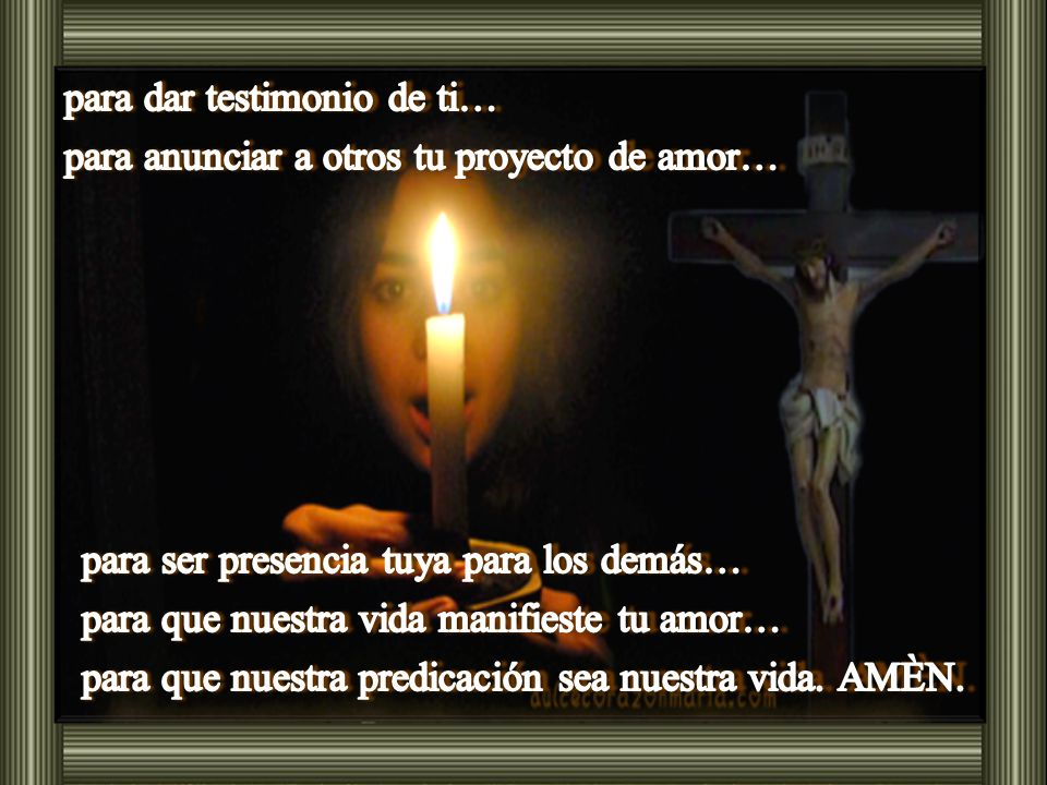 El Señor nos dice que seguirlo implica: …cargar la cruz cada día… (Lc 9,23b) El Señor nos dice que seguirlo implica: …cargar la cruz cada día… (Lc 9,23b)