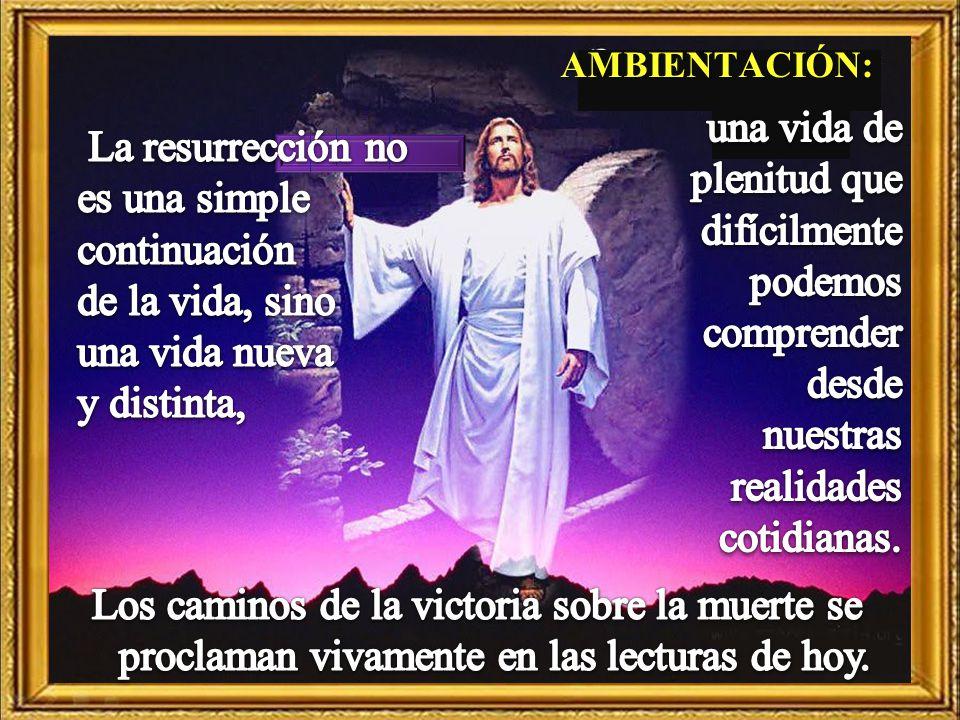 Cantos sugeridos: Mi Dios está vivo; Resucitó.