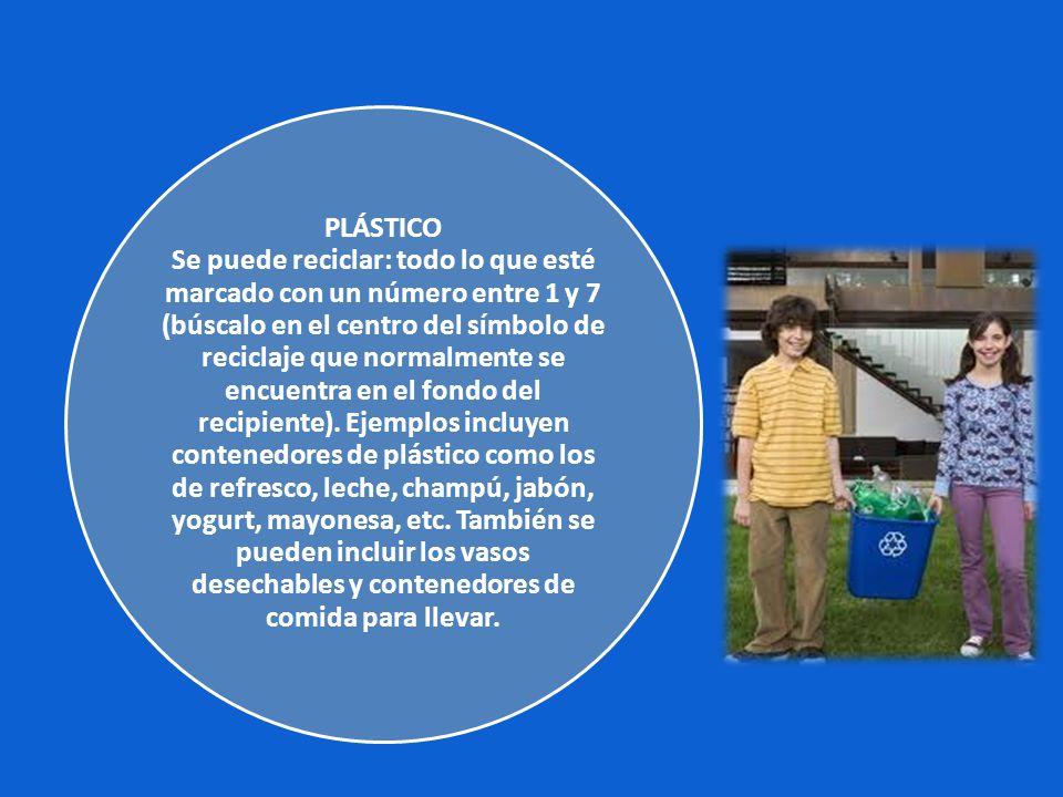 OTROS MATERIALES RECICLABLES Hay varios materiales que son reciclables pero que no se recolectan regularmente por los municipios.