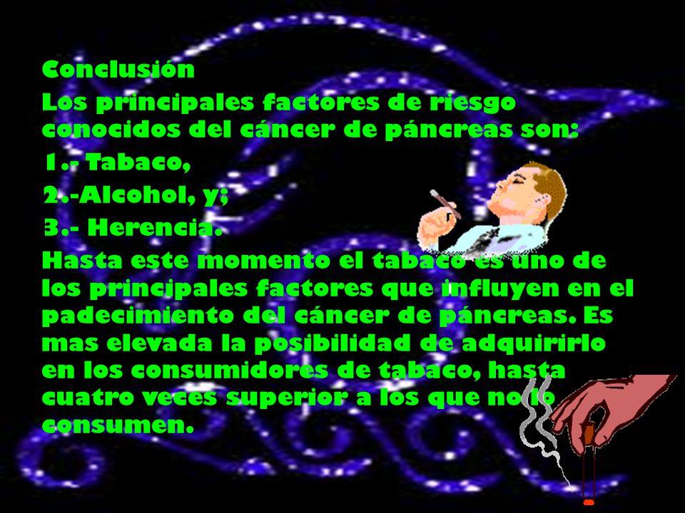 Desarrollo El conocimiento se su etiología y mecanismo carcinogenetico pancreático.