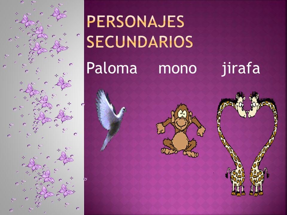 Paloma mono jirafa