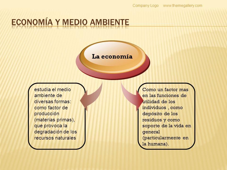 Economía ambiental es una ciencia que establece las bases teóricas que permite obtener el uso del medio ambiente y de los RRNN.