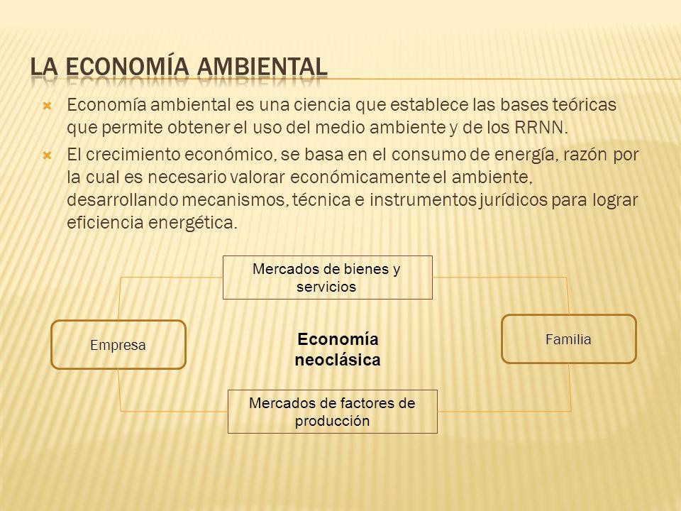 La economía ecológica es una rama científica que incorpora a las variables ambientales a los modelos de gestión de recursos económicos.