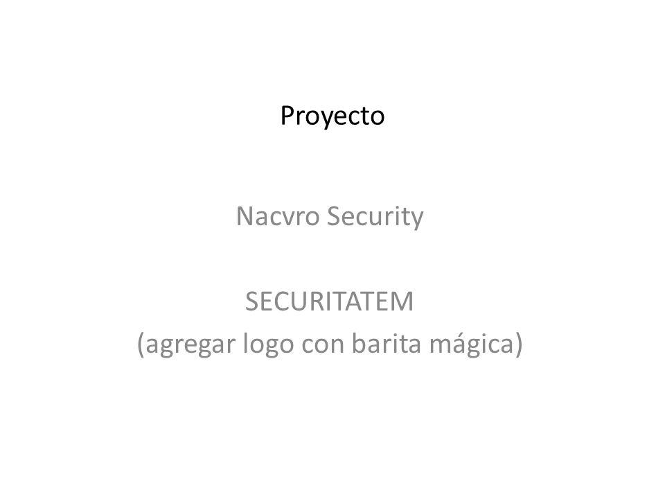 Proyecto Nacvro Security SECURITATEM (agregar logo con barita mágica)