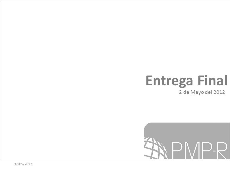 Entrega Final 02/05/2012 2 de Mayo del 2012