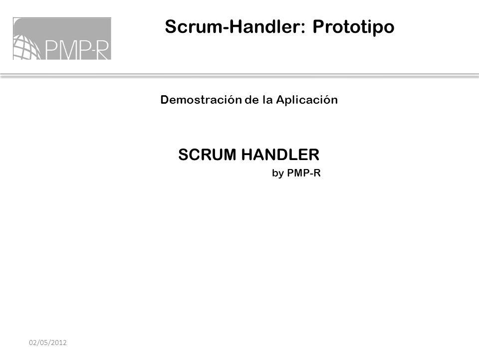 Demostración de la Aplicación SCRUM HANDLER by PMP-R Scrum-Handler: Prototipo 02/05/2012