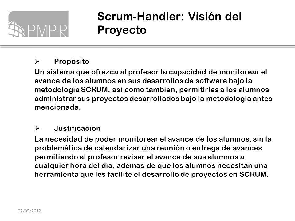 Propósito Un sistema que ofrezca al profesor la capacidad de monitorear el avance de los alumnos en sus desarrollos de software bajo la metodología SC