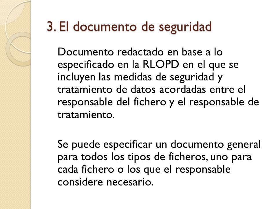 3.El documento de seguridad Modelo de documento de seguridad I Parte 1.