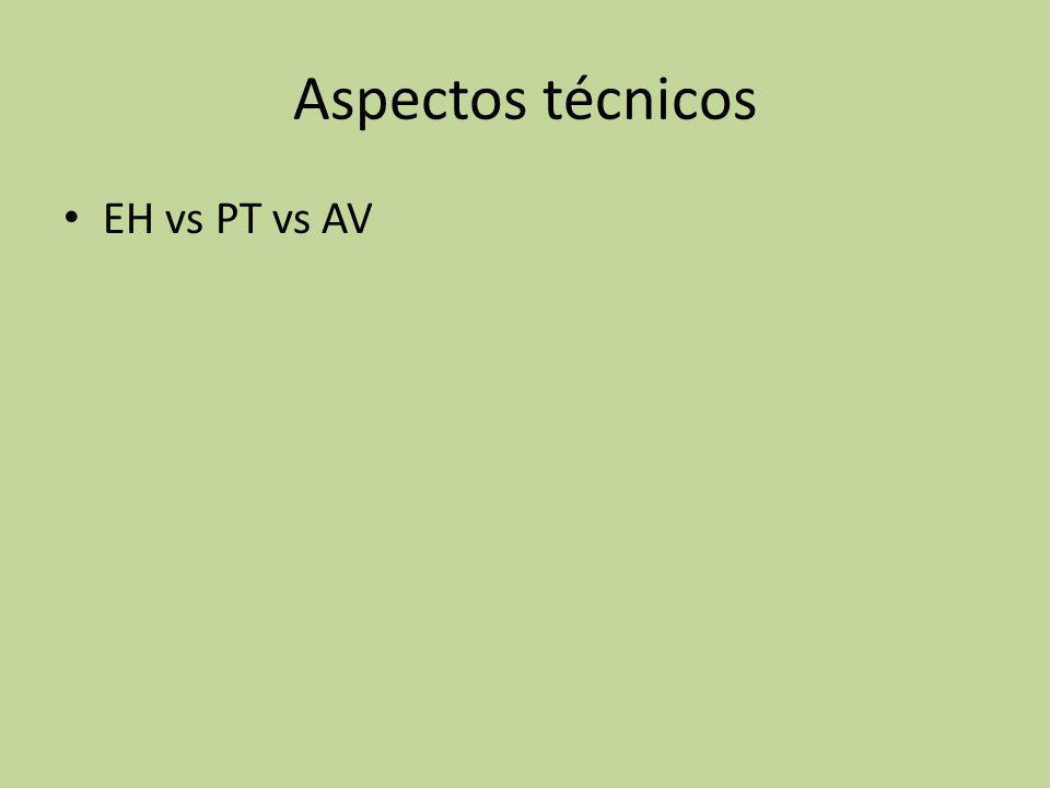 Aspectos técnicos EH vs PT vs AV
