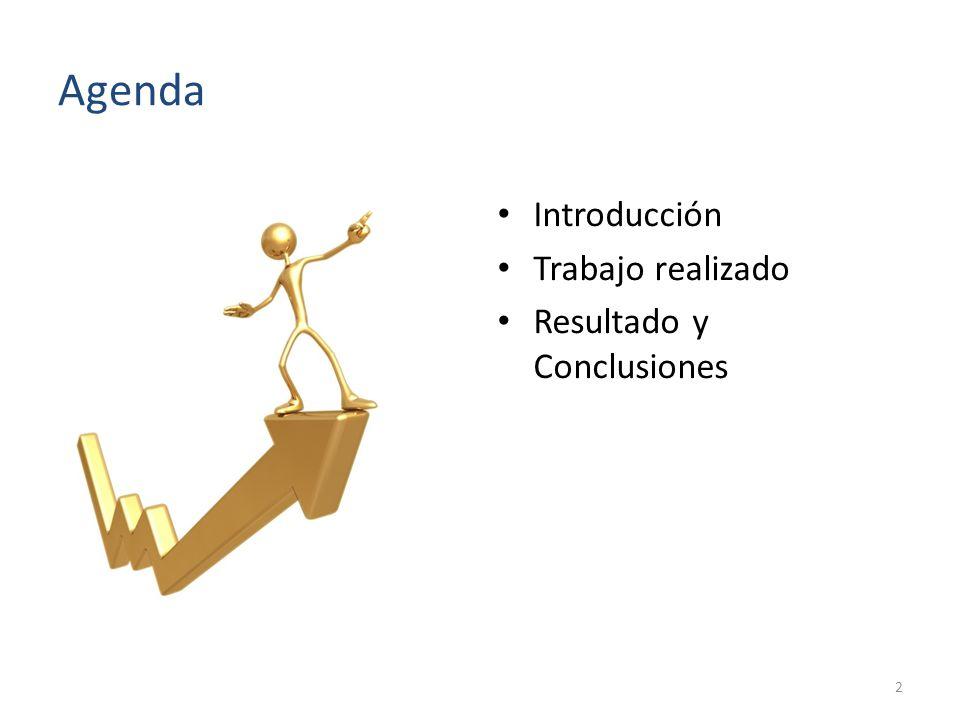 Agenda Introducción Trabajo realizado Resultado y Conclusiones 2