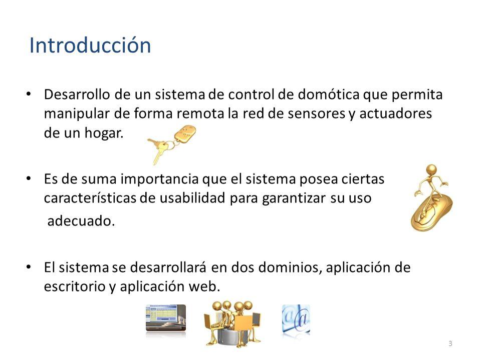 Desarrollo de un sistema de control de domótica que permita manipular de forma remota la red de sensores y actuadores de un hogar.