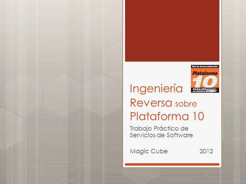 Ingeniería Reversa sobre Plataforma 10 Trabajo Práctico de Servicios de Software Magic Cube 2012