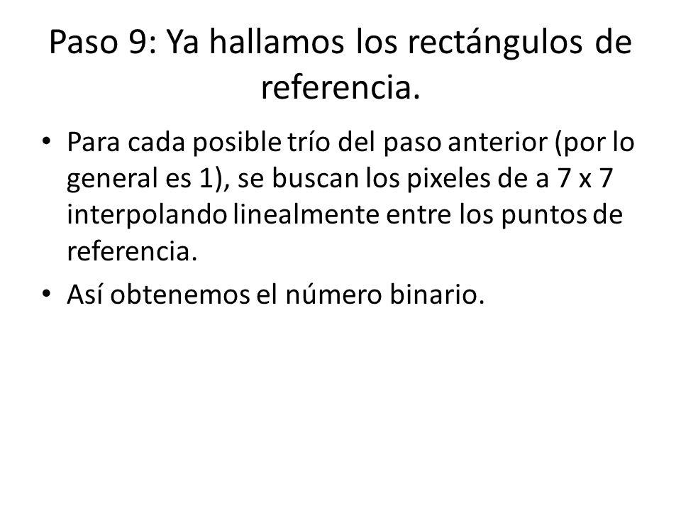 Paso 9: Ya hallamos los rectángulos de referencia.