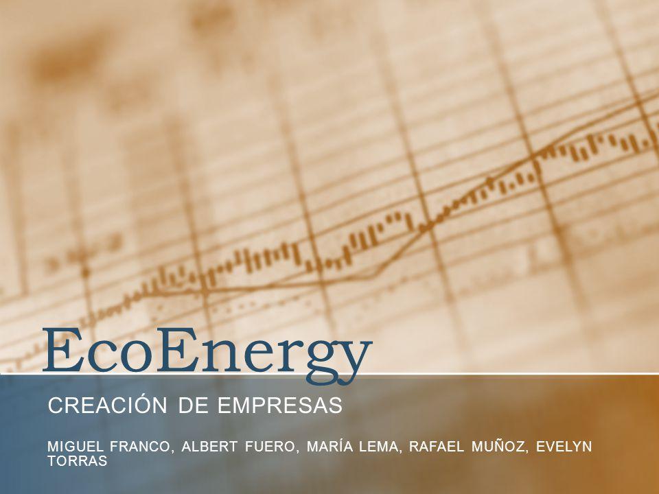 EcoEnergy CREACIÓN DE EMPRESAS MIGUEL FRANCO, ALBERT FUERO, MARÍA LEMA, RAFAEL MUÑOZ, EVELYN TORRAS