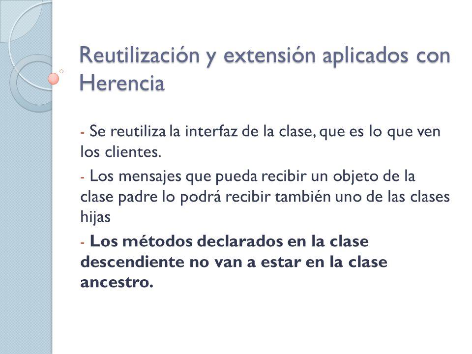 Herencia, resumiendo: Una clase hereda todos los miembros de su clase padre, excepto los constructores.