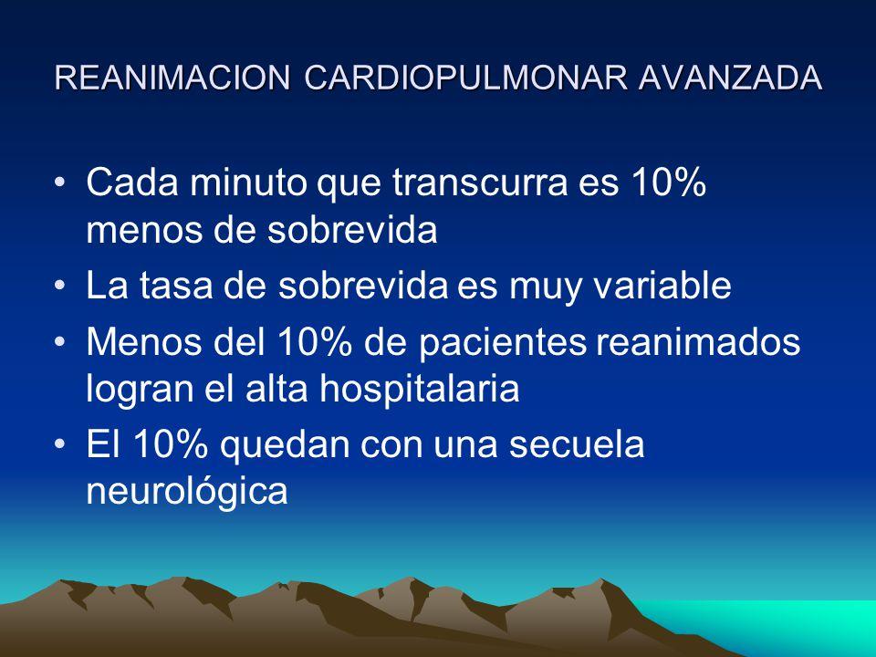 REANIMACION CARDIOPULMONAR AVANZADA D: Desfibrilación