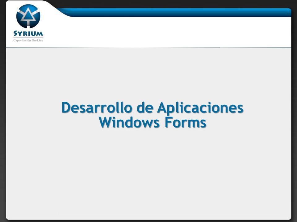 Desarrollo de Aplicaciones Windows Forms