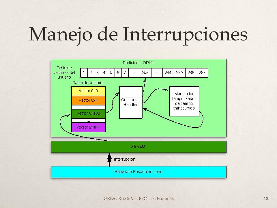 Manejo de Interrupciones ORK+/XtratuM - PFC - A. Esquinas18