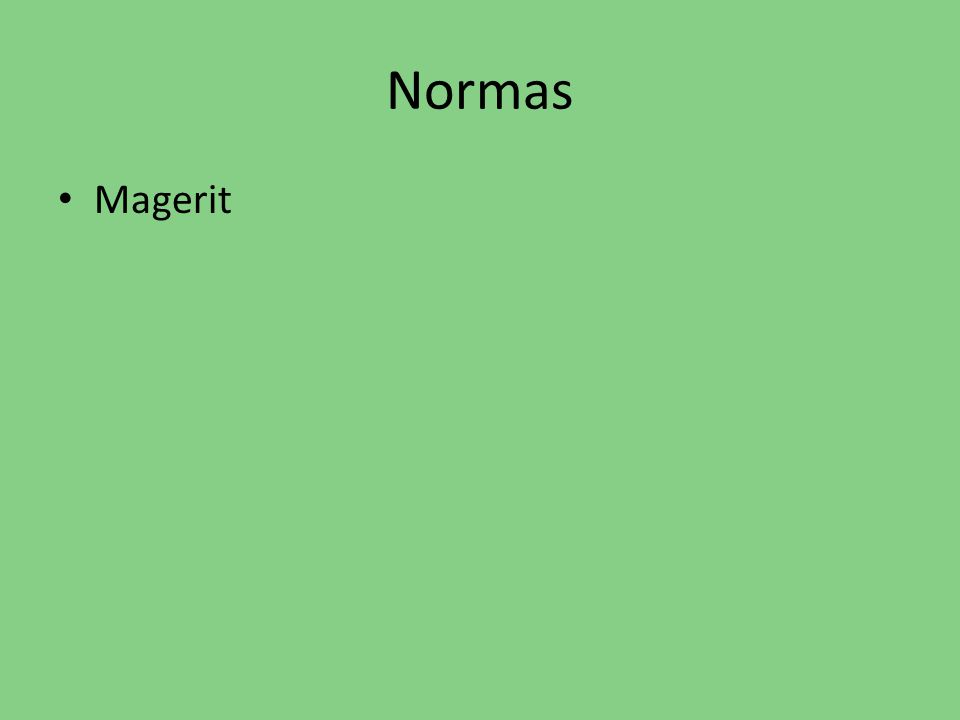Normas Magerit
