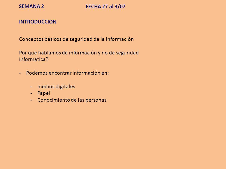 Seguridad – Aspectos técnicos MAPA de la SEGURIDAD DISPOSITIVOS DE SEGURIDAD SEMANA 8 FECHA 8/08 al 14/08