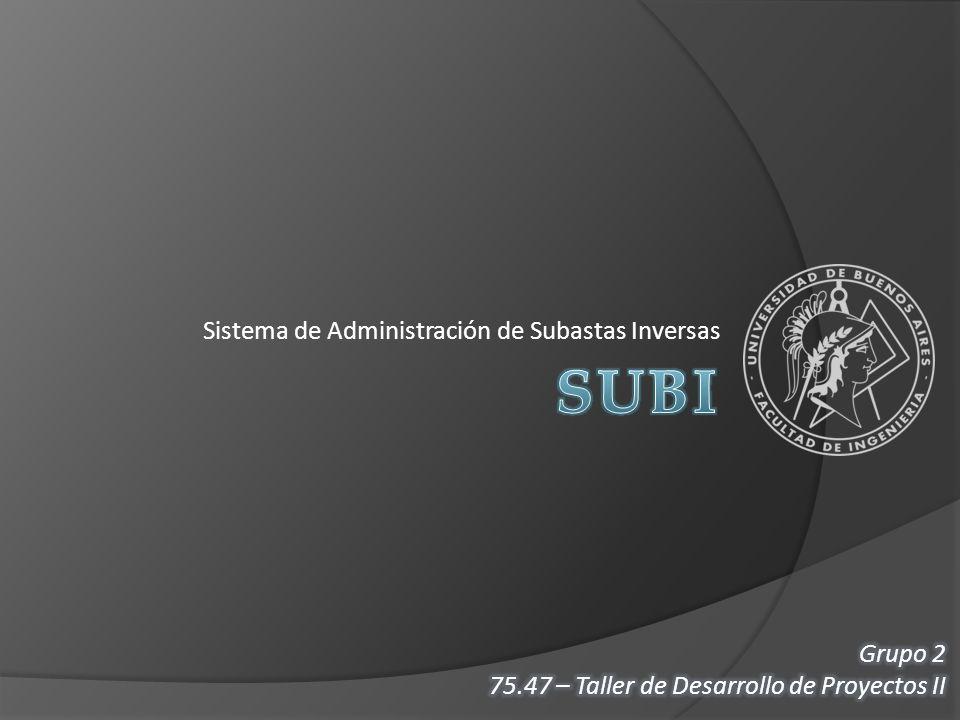 Sistema de Administración de Subastas Inversas