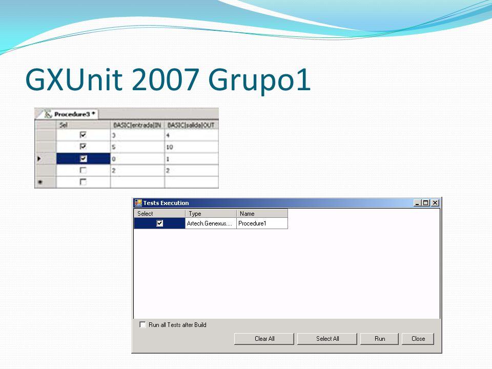 GXUnit 2007 Grupo1