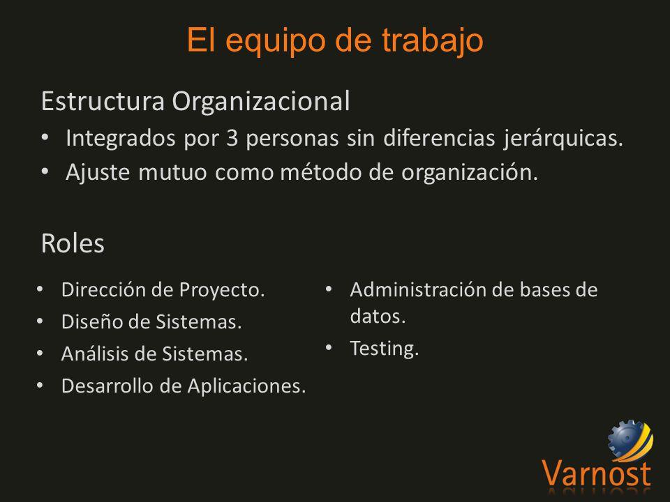 Estructura Organizacional Integrados por 3 personas sin diferencias jerárquicas.