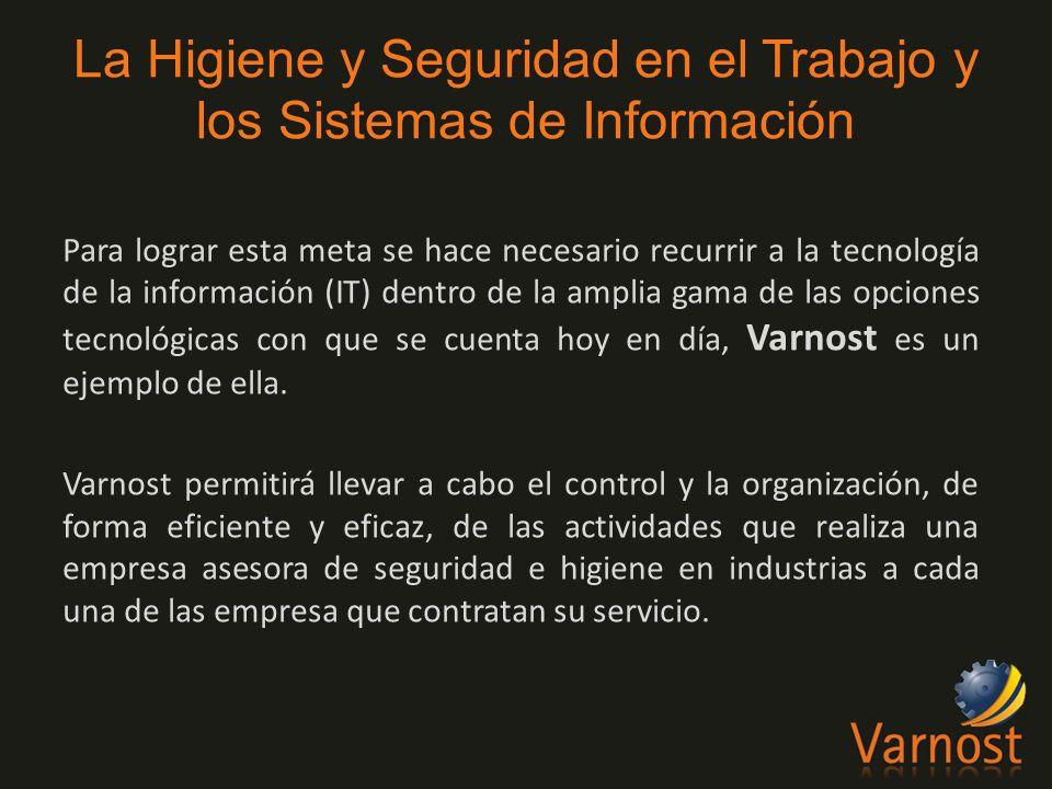 Para lograr esta meta se hace necesario recurrir a la tecnología de la información (IT) dentro de la amplia gama de las opciones tecnológicas con que se cuenta hoy en día, Varnost es un ejemplo de ella.