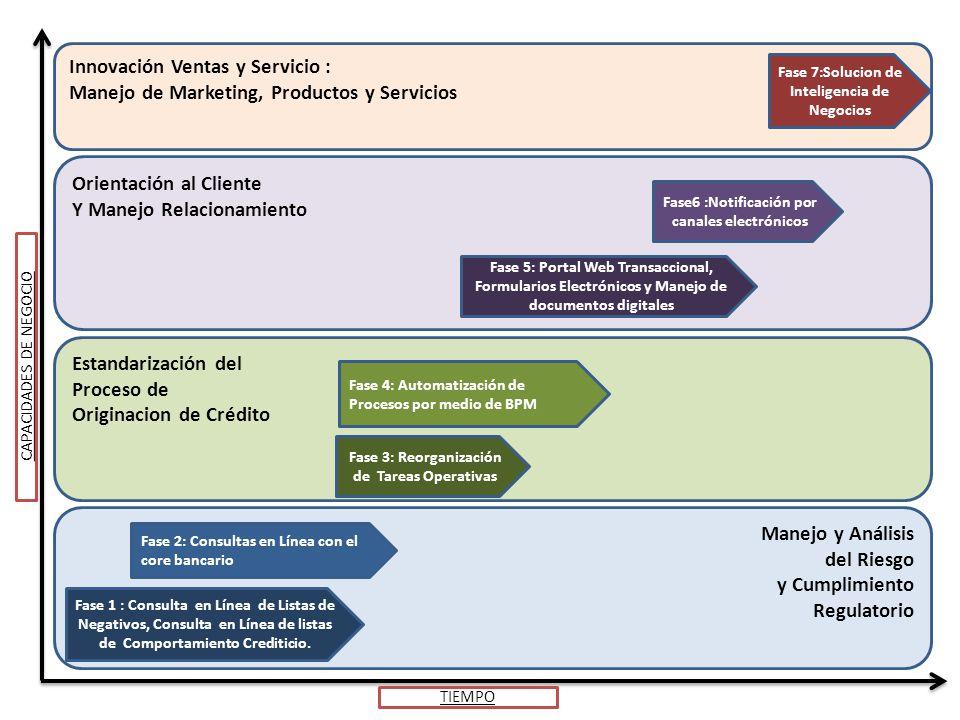 Manejo y Análisis del Riesgo y Cumplimiento Regulatorio Fase 1 : Consulta en Línea de Listas de Negativos, Consulta en Línea de listas de Comportamiento Crediticio.