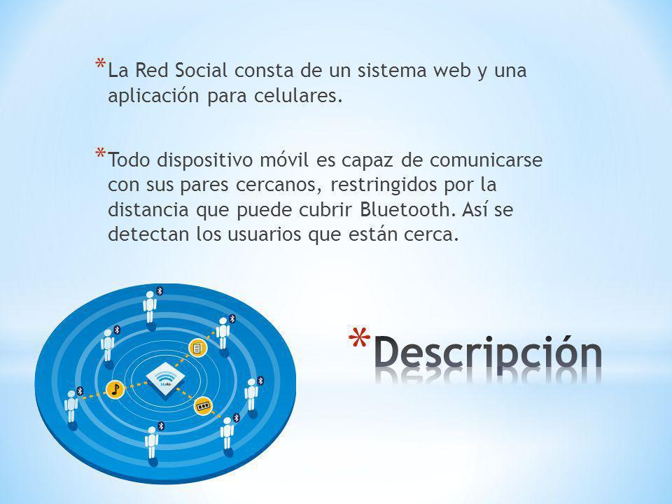 * La Red Social consta de un sistema web y una aplicación para celulares.