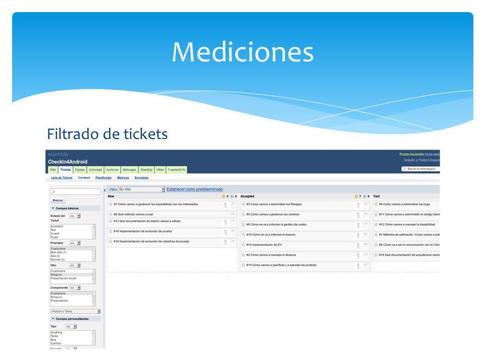 Filtrado de tickets Mediciones