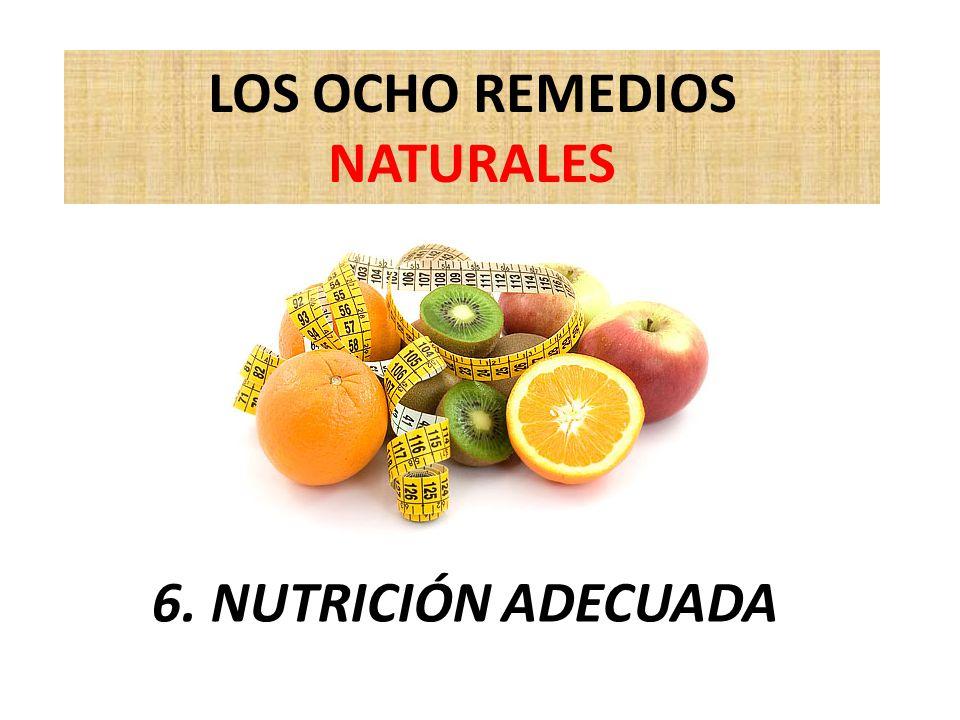 LOS OCHO REMEDIOS NATURALES 6. NUTRICIÓN ADECUADA