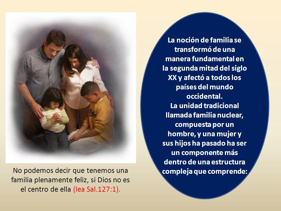 La noción de familia se transformó de una manera fundamental en la segunda mitad del siglo XX y afectó a todos los países del mundo occidental. La uni