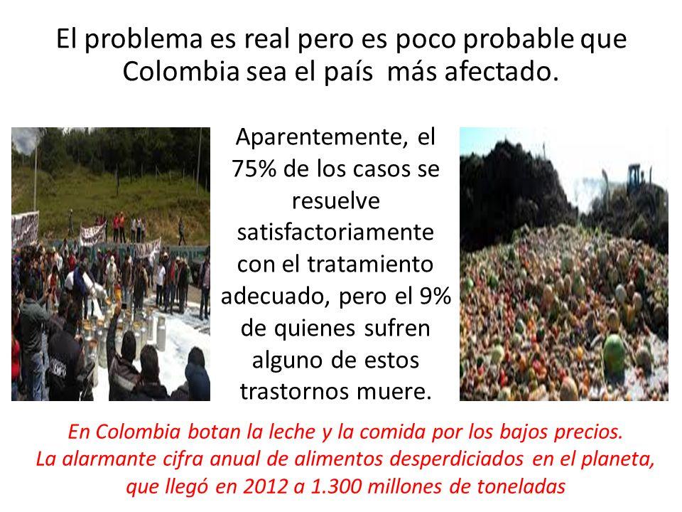 El problema es real pero es poco probable que Colombia sea el país más afectado. Aparentemente, el 75% de los casos se resuelve satisfactoriamente con