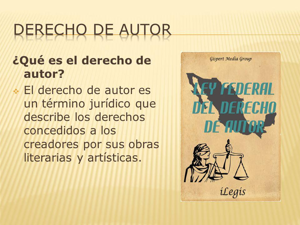 ¿Qué es el derecho de autor.