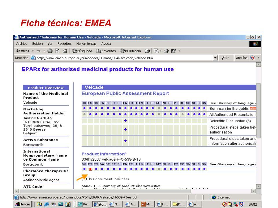 Ficha técnica: EMEA